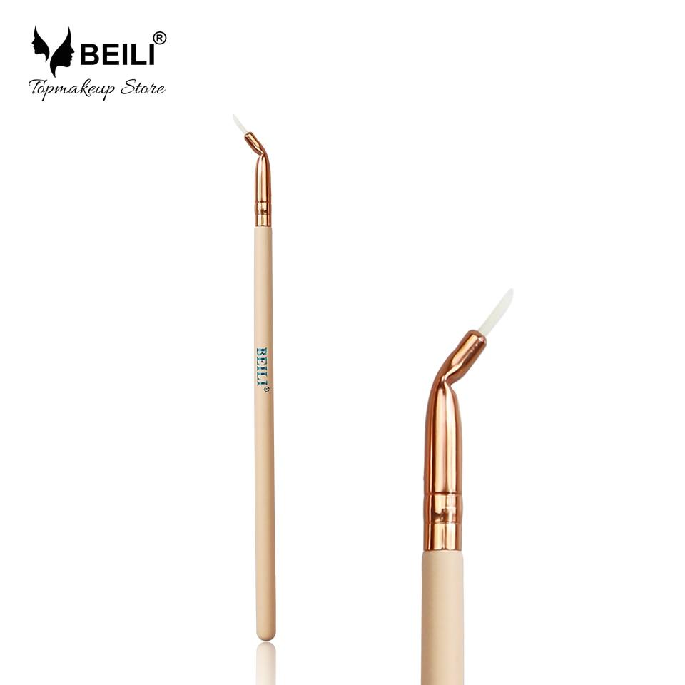 BEILI 315# Pink Handle Luxe Rose Golden Ferrule Eyeliner Makeup Brush m57182n 315