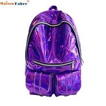 Sacs à DOS женщин лазерной яркий Paquetes колледж путешествия рюкзак сумка рюкзак Прямая поставка 0726