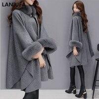 2019 осенне-зимнее женское пальто с широкими лацканами, свободная теплая верхняя одежда, Женский Повседневный джемпер, женское Свободное пал...