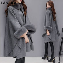 2019 herbst Winter Frauen Mantel Breite Revers Lose Warme Outwear Weibliche Casual Jumper Damen Lose Mantel Frauen Mantel Wolle Mantel mujer(China)