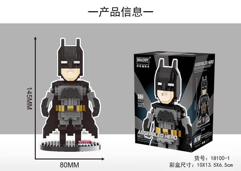 2019 Новое поступление супер герои Тор Бэтмен Бесконечность боец Черная пантера Человек-паук Халк алмазные строительные блоки игрушки для подарков