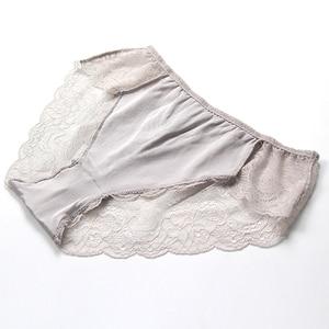 Image 5 - SuyaDream Women Lace PANTIES 100% Natural silk Sexy Beriefs Low Rise Underwear Nude Pink Everyday Underwear