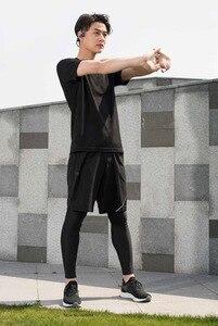 Image 2 - Xiaomi youpin erkek Tek parça dokuma Kısa kollu gömlek Nem emme Hızlı kuruyan Spor yaz elbisesi adam