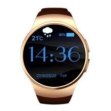 Оригинальный KW18 Полный Круглый IPS сердечного ритма Смарт часы MTK2502 BT4.0 SmartWatch для iOS и Android для Samsung интеллектуальные часы