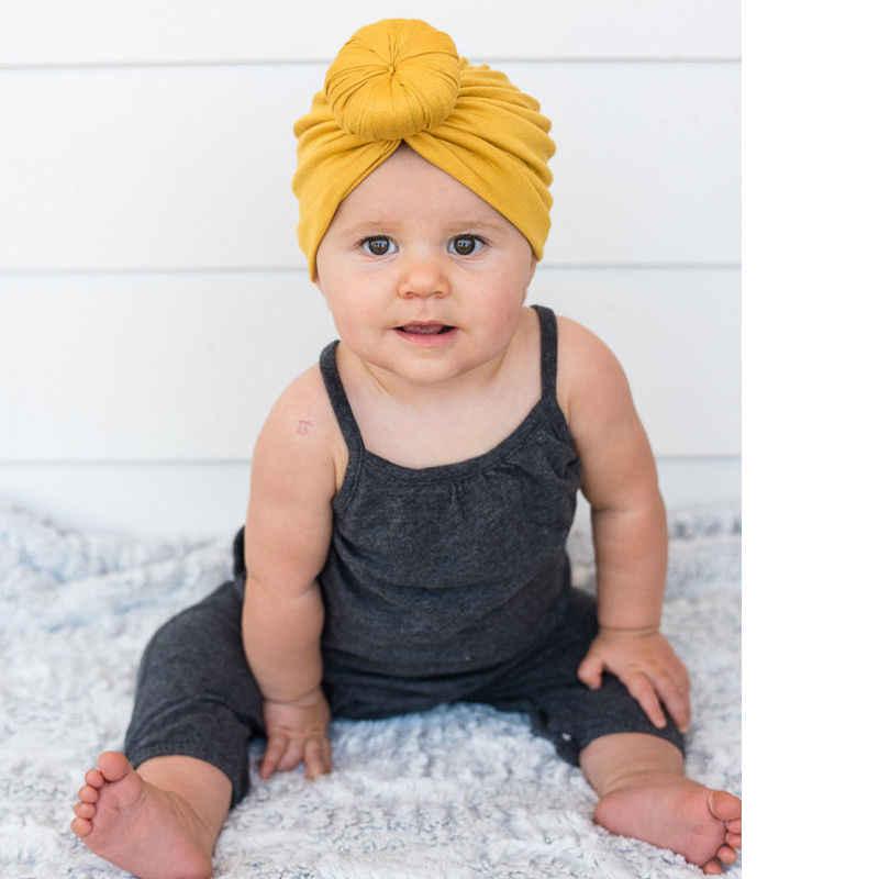 Newborn Baby Kids Soft Cotton Hats Fashion Toddler Sweety Turban Knot Hats Infant Children Cute Head Wrap Headband One