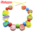 Simingyou Educational Toys For Children Wooden Montessori Toys Fruit Beaded Building Blocks Toys For Kids SG34