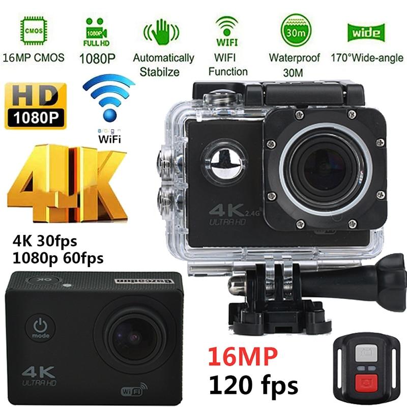 Guzcadun caméra d'action sport vidéo WIFI Ultra HD plongée sous-marine 1080 P caméra 4 K DVR étanche casque vélo Cam
