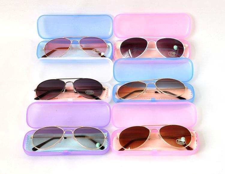Envío libre la última venta caliente de la manera gafas aleación fotocromáticas niños niña niños gafas de sol