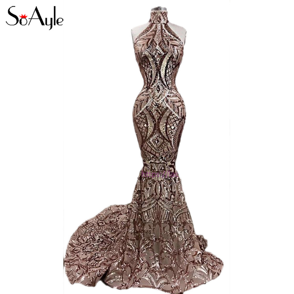 Soayle Vestidos De Festa Longo Sweetheart Mermaid Evening Dresses 2018 Silver Meteor Sequin Arabia Dubai Fashion Prom Dresses Evening Dresses