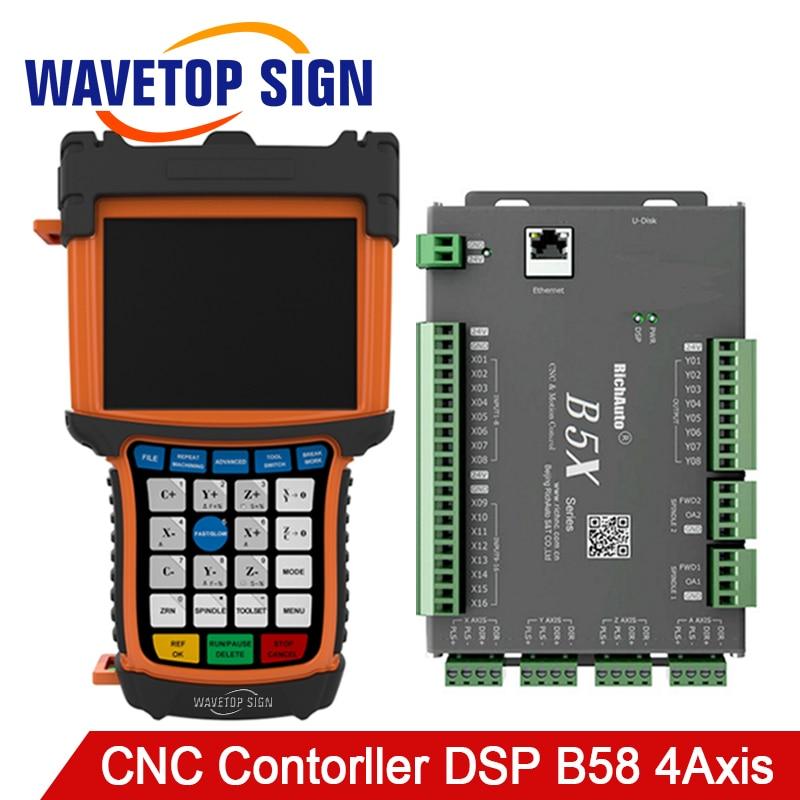 4 Axis CNC DSP Controller B58 Support Servo Motor DSP B58 Support I/O Port MAX 64 Data WEB Transfer 5 inch Color Screen недорго, оригинальная цена