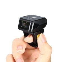 Свободные руки 1D лазерный мини Bleutooth носимое кольцо считыватель штрих-кодов 180 градусов вращение подключение с IOS Android Windows