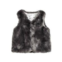 Autumn Spring Waistcoat for Little baby, Soft slippery  Small Coats,Imitation fox fur, Girl Boy Warm clothing (1-24 Months)