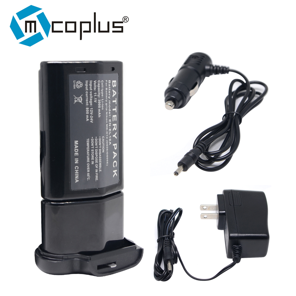 Mcoplus EN-EL18A EN-EL18 Battery + Charger for Nikon D850 D800 D800E D810 Camera ,MB-D18 MB-D12 MBD12 Battery Grip rechargeable camera battery en el18 for nikon made in china