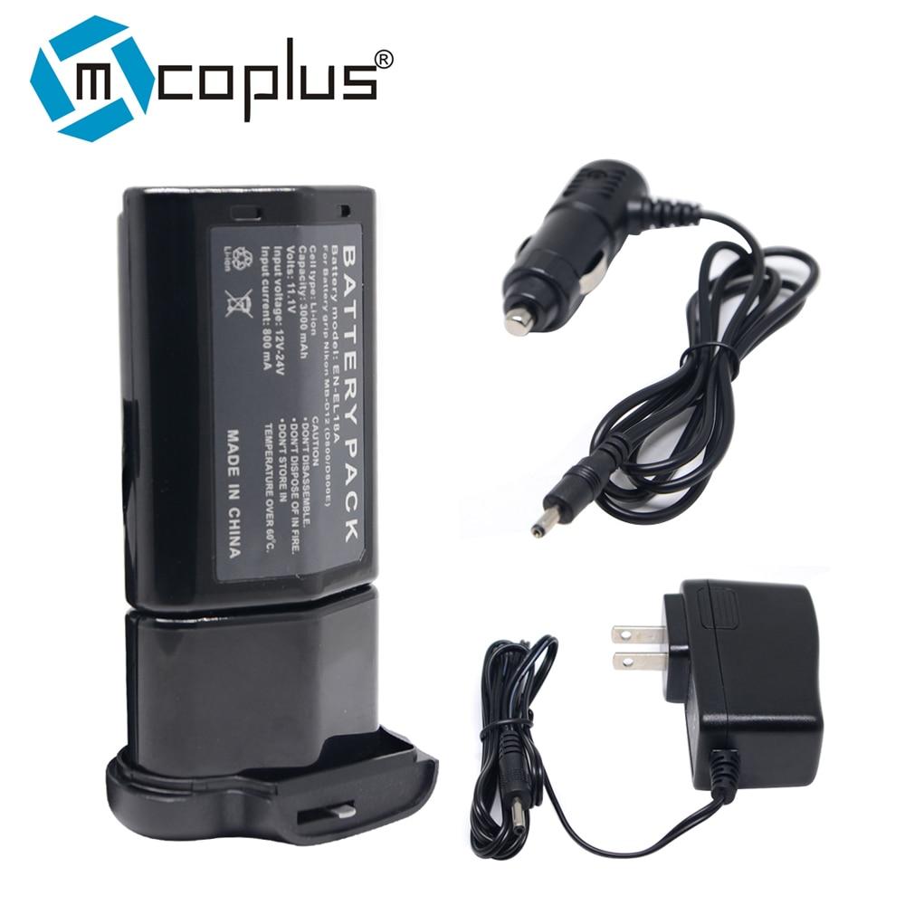 Mcoplus EN-EL18A EN-EL18 Battery + Charger for Nikon D850 D800 D800E D810 Camera ,MB-D18 MB-D12 MBD12 Battery Grip dste mb d17 battery grip en el18a battery remote control for nikon d500 dslr camera