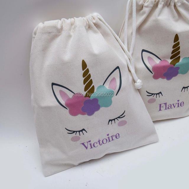 Custom Name Unicorn Party Favor Birthday Gift BagBaby Shower BagsMagical