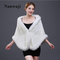 Women Winter Champagne Bridal Faux Fur Shawl Bridal Wraps Warm Faux Fur Wedding Party Wrap Boleros Evening Party Cape