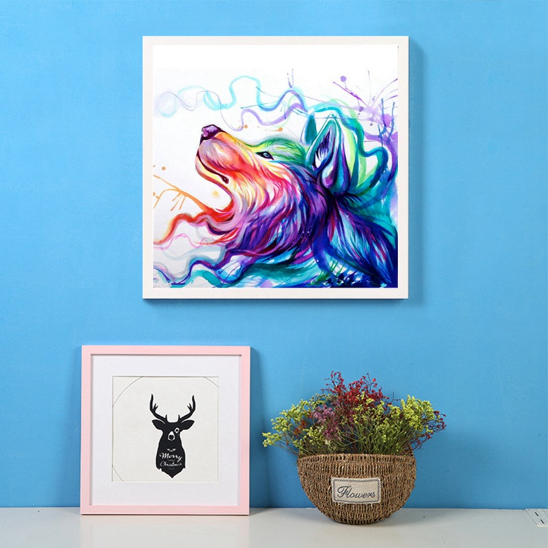 2018 New Magical Animals Diamond Painting Digital Suite Partial Drill Cover Home Wall Hanging Decoration