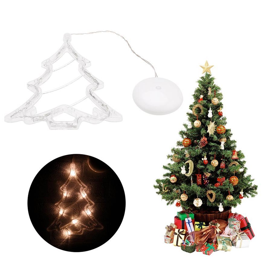 Sucker LED Christmas Light Deer Bell Xmas Tree Shape Fairy Light ...