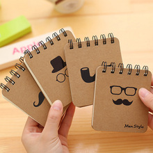 100SHEETS Creative  Men Style Notebook,Creative Notepad Business Diary Office Student Portable Cotebook