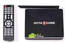 10pcs new android 5.1 Smart TV Box CSA90 RK3368 Cortex-A53 Octa core CPU Bluetooth4.0 2GB/16GB 4K android tv box muti language