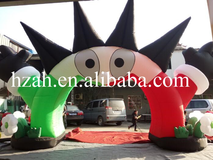 Customized Inflatable Sun Arch for Party Decoration inflatable cartoon customized advertising giant christmas inflatable santa claus for christmas outdoor decoration