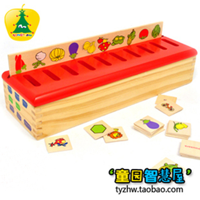 free shipping Early learning toy classification box beautiful educational colorful kid children toy school supplies plate