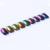 9 Cajas Set 0.5g Top-Grade Camaleón Láser Brilla Polvo Del Brillo Del Clavo de la Manicura Del Arte Del Clavo Pigmento de Cromo Negro Color de Base Es Necesario