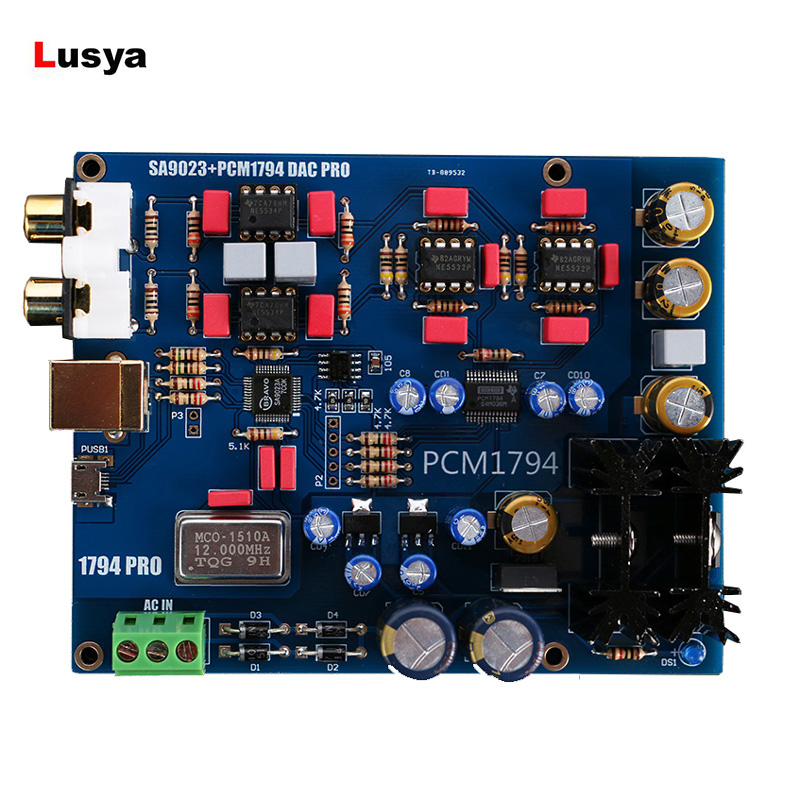 US $33 41 30% OFF|DAC Decoder Board SA9023+PCM1794 USB DAC Decoding Board  Sound Card 5V DIY Kits/Finished B8 004-in Amplifier from Consumer