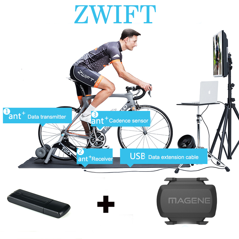 USB ANT+ Dongle for Zwift ANT+ USB Sticker Speed Sensor Data Receiver Compatible Garmin Forerunner Stopwatch Series BikeComputer image