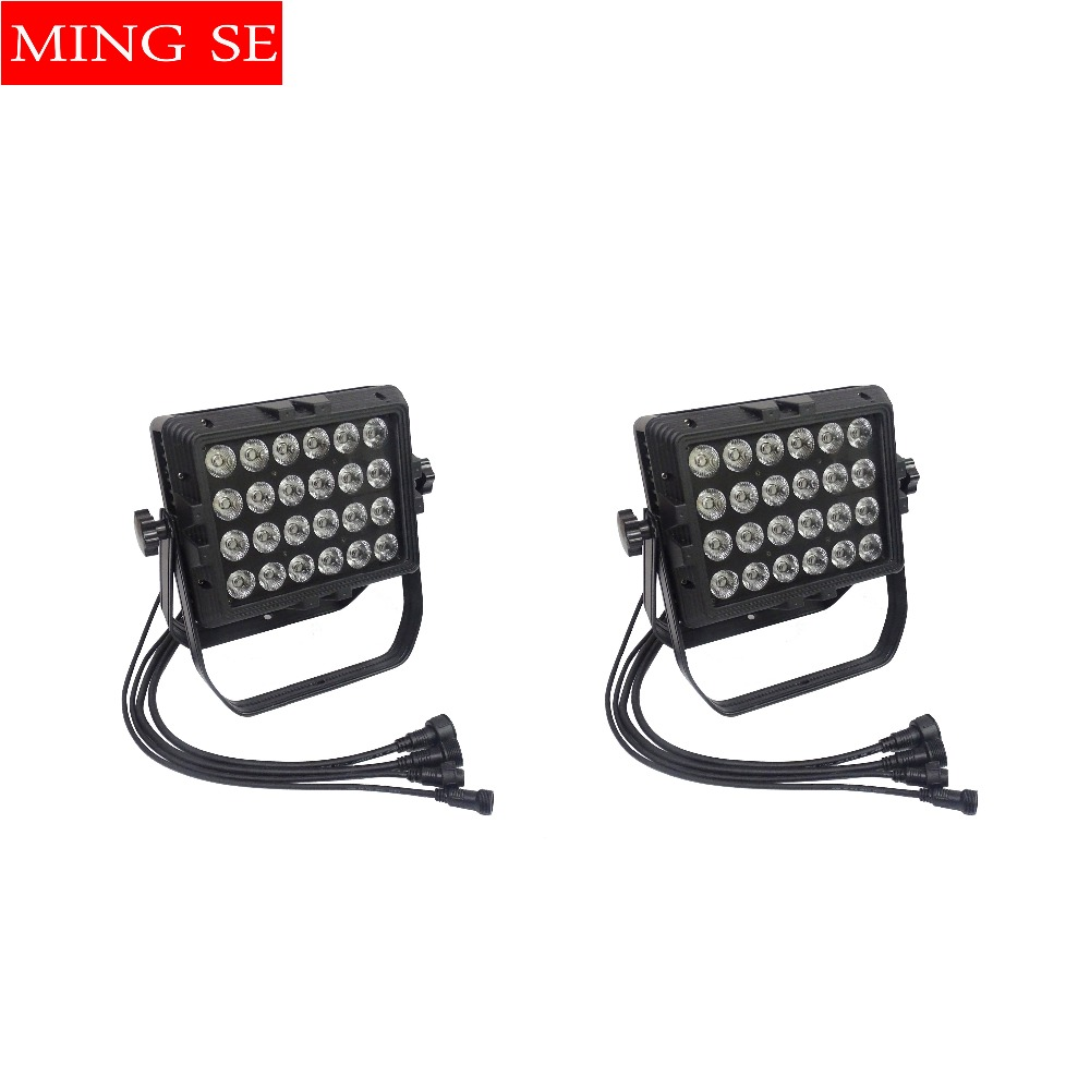 Obliging Ip65 Waterproof Wall Washer 24x18w Rgbwa Uv 6in1/rgbw 4in1/rgbwa 5in1 Led Outdoor Rainproof Stage Light Square Par Light Regular Tea Drinking Improves Your Health Stage Lighting Effect
