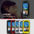 Lovemei Металла Алюминиевый Корпус Броня Heavy Duty Gorilla Glass Противоударный Обложка Carcasa Капа Fundas Воды Coque Для HTC Desire 820