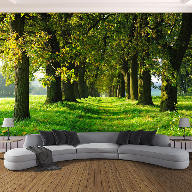 3d Photo Wallpaper Non Woven Straw Texture Large Murals
