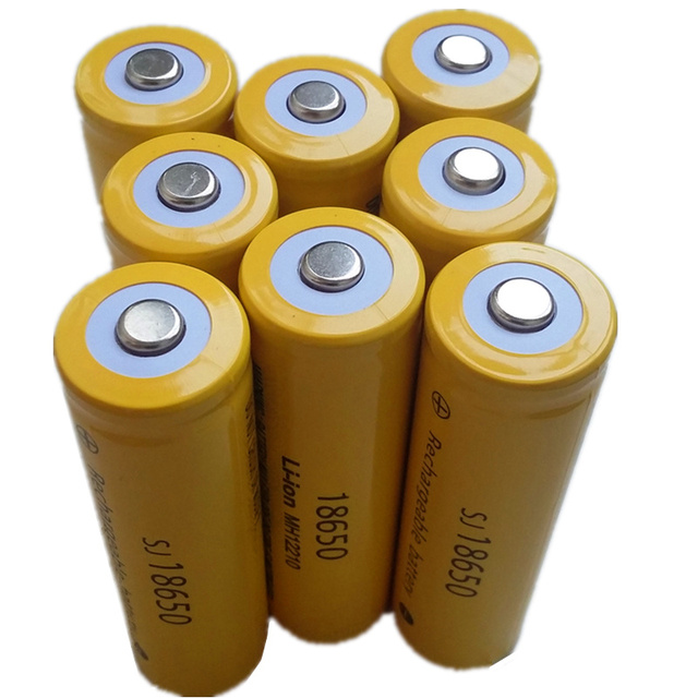 XH6Pcs/lot 3.7V 18650 battery High-capa Li-ion Rechargeable Battery for Flashlight 3.7v 18650 rechargeable battery bateria 18650