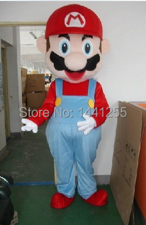 2014 Large luxury Super Mario Bros. mascot costume adult beautiful evening dress suit