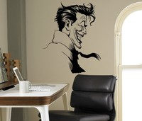 Supervillano Joker Batman Wall Vinyl Decal Sticker Superhero Ideas Decoration Bedroom Kids Room Removable Wall Sticker