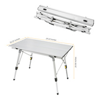 Portable Foldable Outdoor Folding Table Ultra Light Aluminium Alloy Desk Durable Picnic Tables For Barbecue Camping