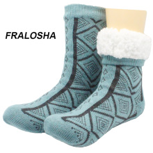 Fralosha Women's Floor Socks plus velvet thickening Indoor Women Socks Soft Warm Spring Winter  Hosiery Ladies Home slippers2