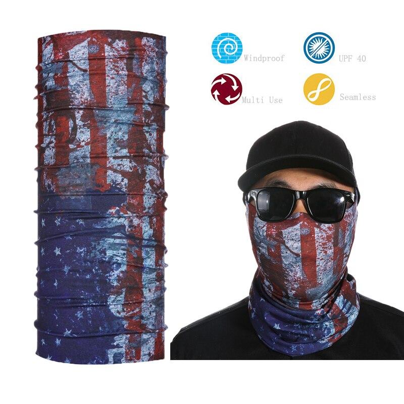 Rohr Flagge Gesichtsschutz Bandana Rohr Maske Sport Nackenmanschette Multifunktionale Nahtlose Bandana
