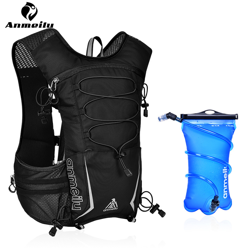 Anmeilu 2L TPU Water Bag Portable Outdoor Sport Camping Hydration Backpack Running Cycling Backpack Bike Water Bladder Mochila