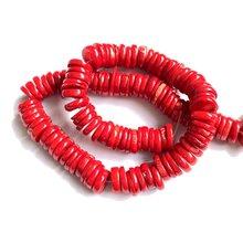 Оптовая продажа 1 струна натуральный красный коралл 2x12 мм