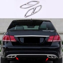2x Chrome ze stali nierdzewnej tylny cylinder pokrywa rury wydechowej tapicerka dla Mercedes Benz E klasa W212 W213 2014-2017