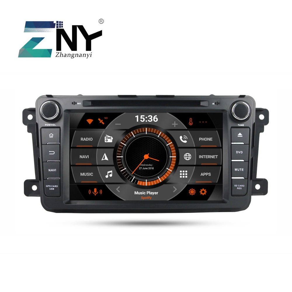 "8"" IPS In Dash 2 Din Android 9.0 Car DVD Stereo For Mazda CX-9 CX9 Auto Radio FM WiFi GPS Navigation Audio Video Backup Camera"