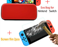 screen film HobbyLane 2 PCS Tempered Glass Screen Protector+ Carry Bag For Nintend Switch Protective Film Cover For N-Switch Accessories d15 (2)