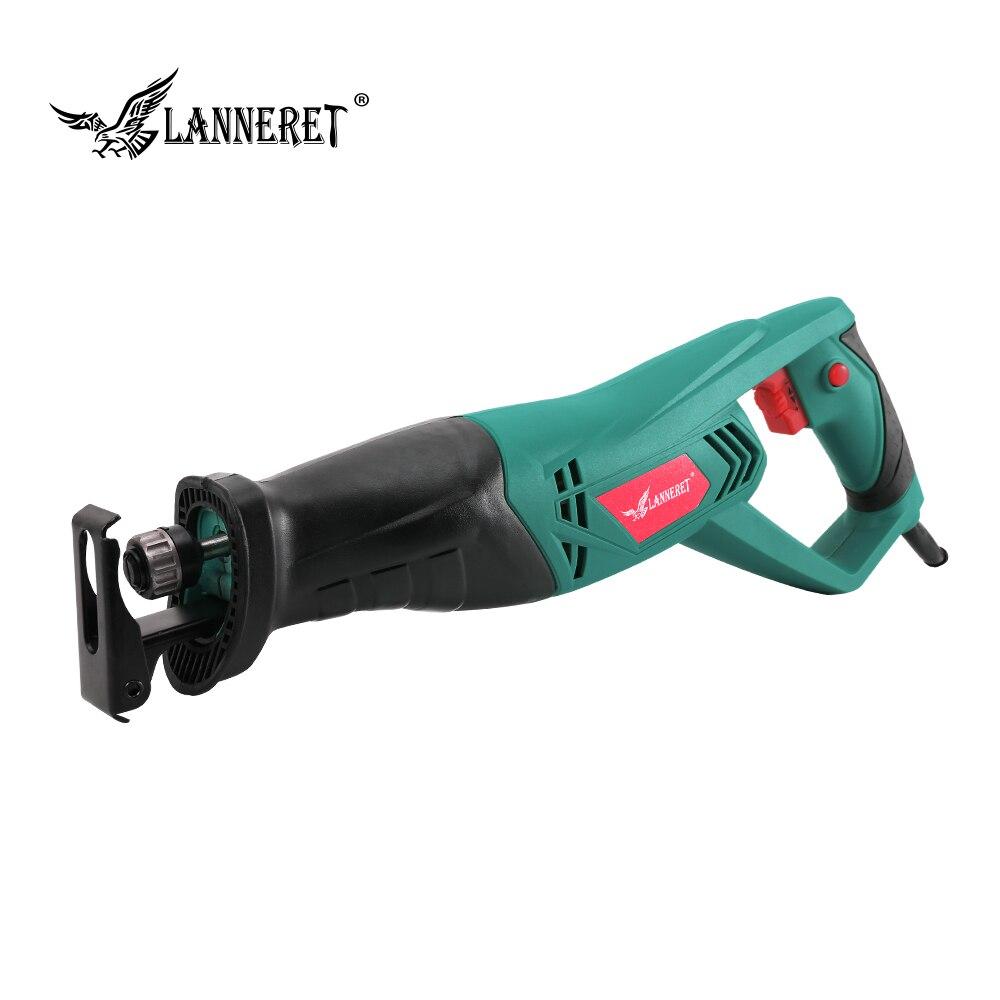 LANNERET 900 W Elétrica Reciprocating Saw Carpintaria Sabre Mão De Corte De Metal Viu Ferramentas De Poder de Multi-função de Velocidade Variável