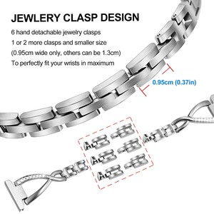 Image 4 - Stainless Steel & Diamond Watchband 18mm 20mm 22mm for Fossil Diesel Timex Armani CK DW Jewelry Watch Band Quick Release Strap