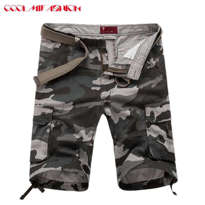 CooLMiFashion Man Cargo military Shorts Casual Cotton Multi Pocket Summer Man Short Pants Big Size Brand European American Style