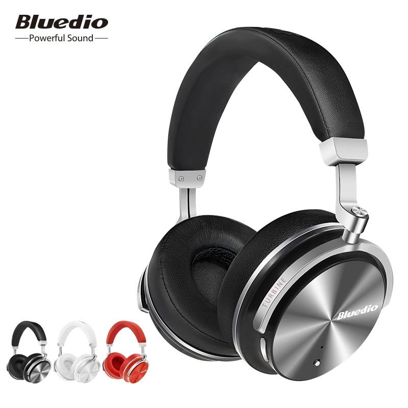 मूल Bluedio T4S ब्लूटूथ हेडफ़ोन माइक्रोफोन ANC सक्रिय शोर के साथ वायरलेस हेडसेट रद्द करना