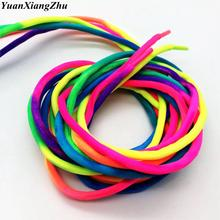 1 Pair Round Rainbow Shoelaces Canvas Athletic Shoelace Sport Sneaker Shoe Laces Strings 100CM/120CM
