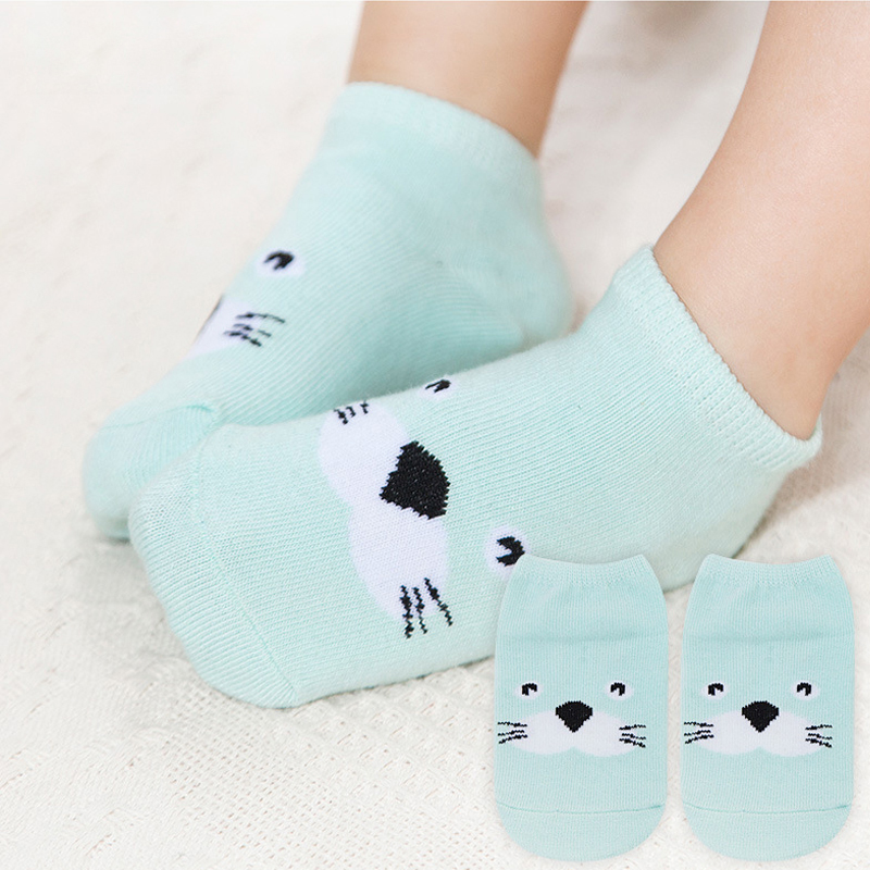 Hot Sale 6-18M Cute Animal Thin Baby Strumpor Vår / Sommar / Höst Baby Girl Strumpor SK0022