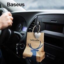 Baseus 4 шт./лот крючки для автомобиля Органайзер Крючок для склада для USB кабель для наушников ключ хранения аксессуары для автомобиля, автомобильный крючок вешалка